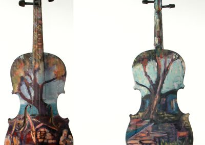 "SOLD Christine Apostolina Beirne ""Painted Violin for the Ventura Music Festival"""