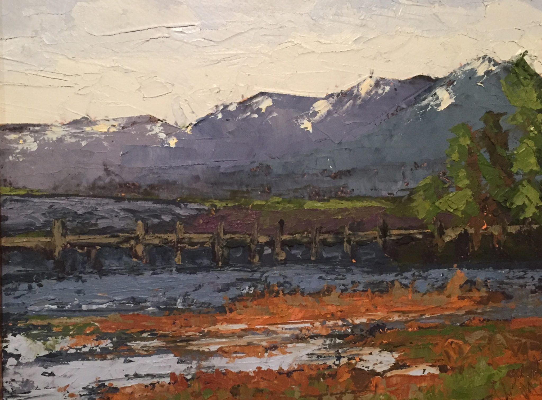 "Christine Apostolina Beirne ""LakeTahoe Morning"" 8x10 Painted plein air for a quick-draw"
