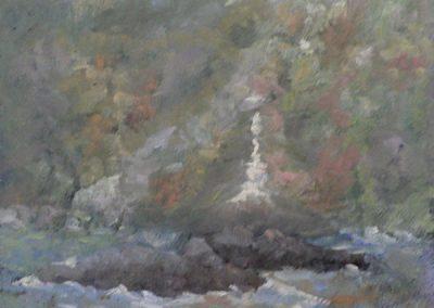 """SOLD Christine Apostolina Beirne """"Anacapa Morning Fog"""""""
