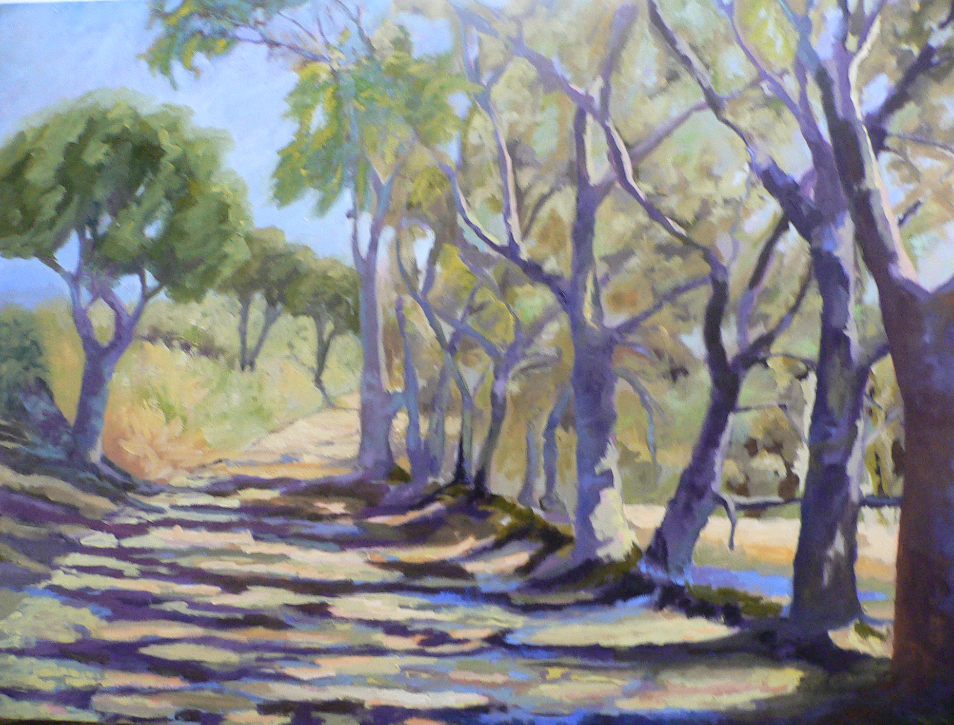 "SOLD Christine Apostolina Beirne ""La Canada Larga Road"""