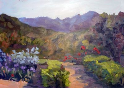 "Christine Apostolina Beirne ""View from Krotona Institute"""