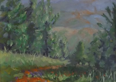 """SOLD Christine Apostolina Beirne """"Figueroa Mountain Poppies"""""""