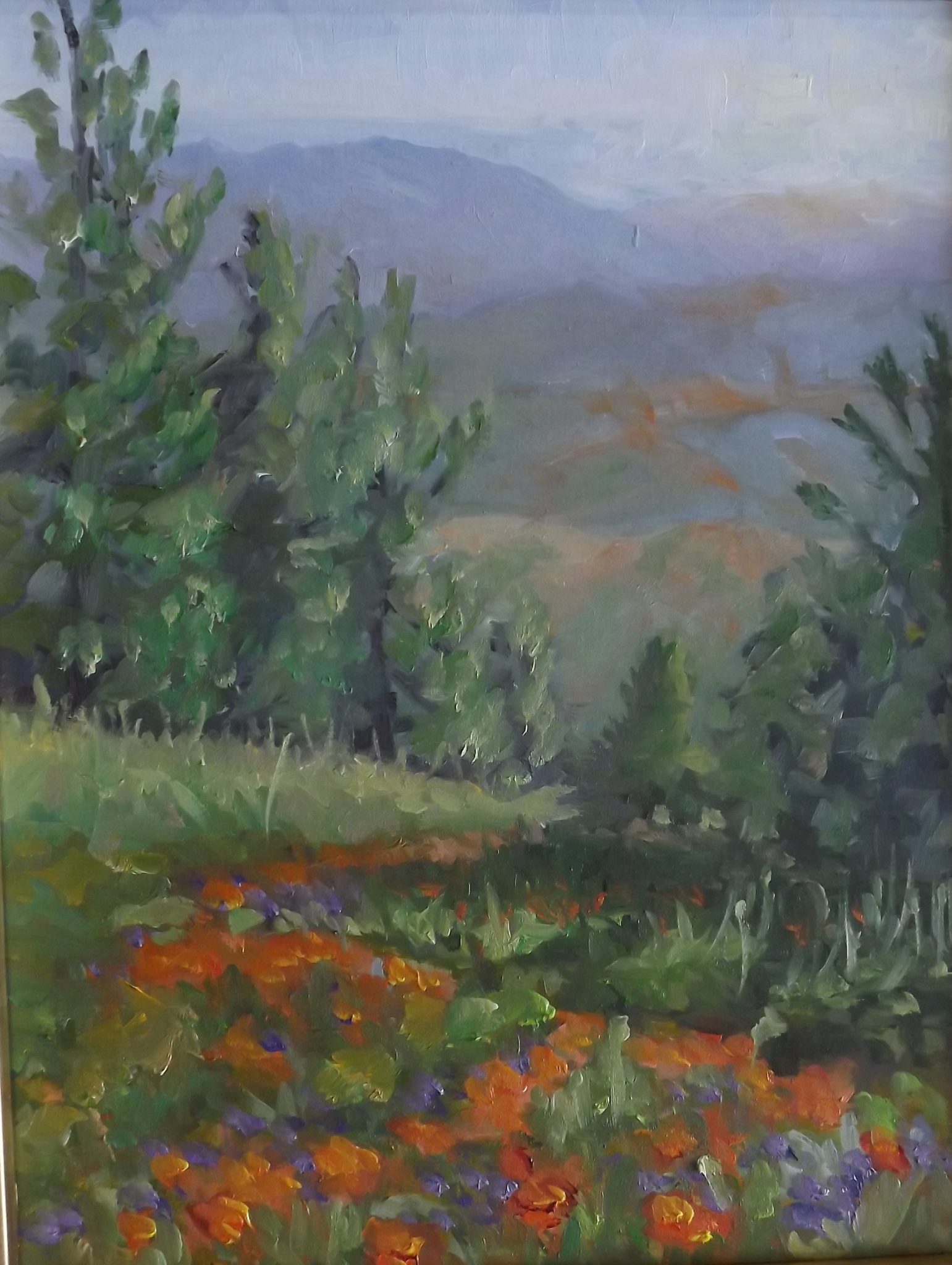 "SOLD Christine Apostolina Beirne ""Figueroa Mountain Poppies"""