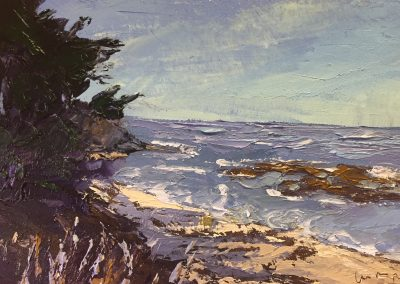 "Christine Apostolina Beirne ""Shore Acres State Park: Coos Bay Oregon"" oil on cradled board, 4x6"