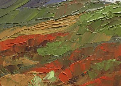 "Christine Apostolina Beirne ""Misty Day at Denali, Alaska"" oil on cradled board, 4x6"