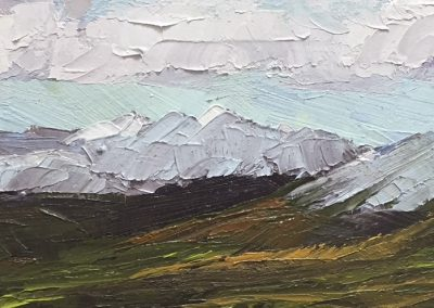"Christine Apostolina Beirne ""The Colors of Denali"" oil on cradled board 4x12"