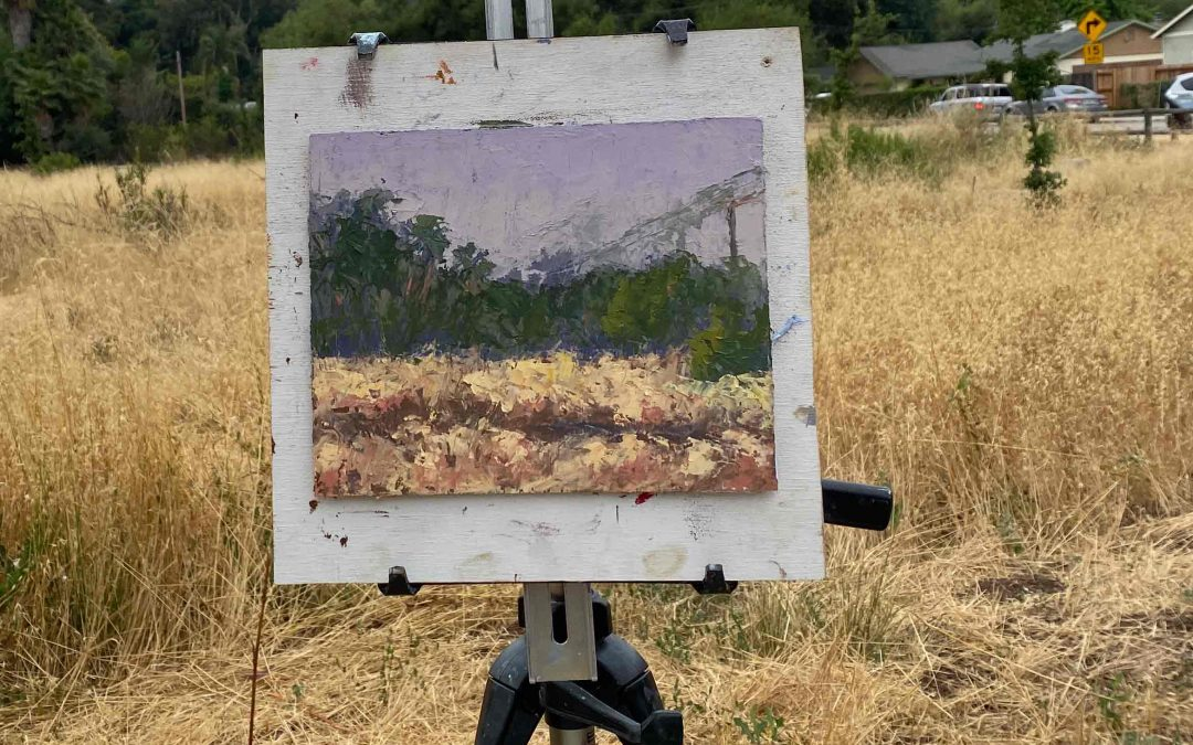 How to tell if a painting was truly painted plein air!
